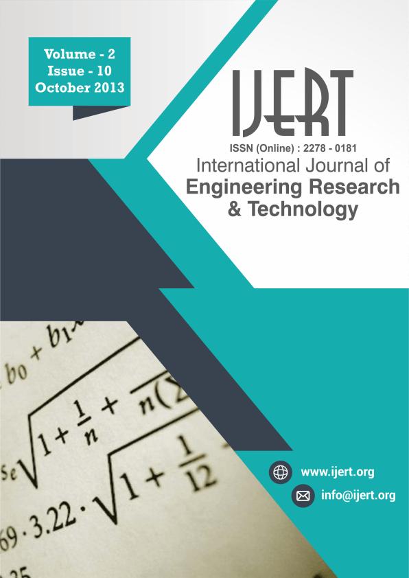Volume 02, Issue 10 (October 2013) – IJERT
